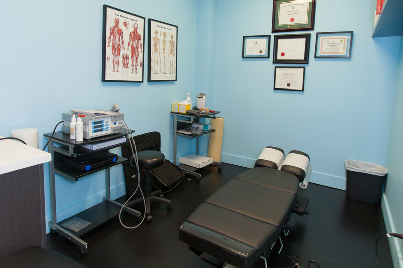 Chiropractic Room at Simcoe Health Clinic