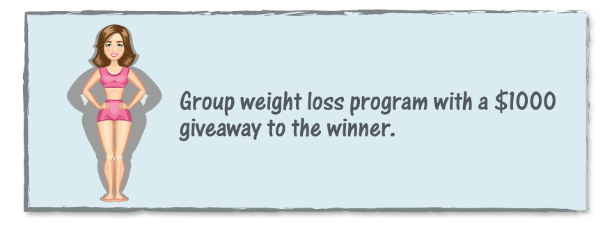 group weight loss program with a 1000 giveaway to the winner